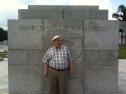 Grant Goodman at World War II Memorial in Washington DC, July 2, 2009.