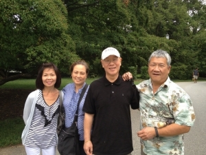 John and Vivian, Peter and Bing, New Jersey 2014.