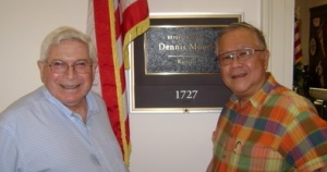Grant and Paul outside Dennis Moore's office in Longworth House on Capitol Hill on July 4, 2009.