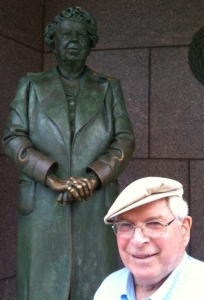 Grant Goodman with Eleanor at FDR Memorial in Washington DC, July 3, 2009.