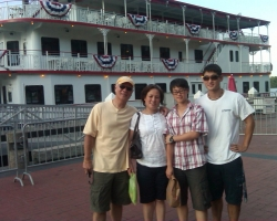 John Lim with family in Savannah, GA in July, 2009.