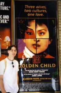Michael Senften in Shubert Alley in New York, 2000.