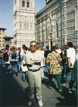 Paul in Florence, Summer 1995.