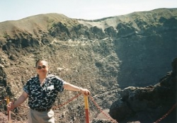Paul on top of Mount Vesuvius, Summer 1995.