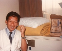 Bert Labog in Japan, 1980s.