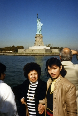 Mom and Debbie on Circle Line in NYC, early 1980s.