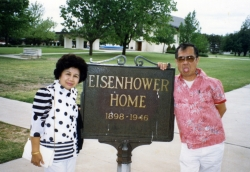 Mom at Eisenhower home in Abilene, KS, mid-1980s.