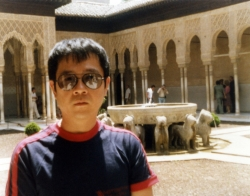 Paul at the Alhambra in Granada, mid-1980s.
