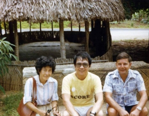 Paul with Fusa and Felix Moos in Hawaii, early 1970s.