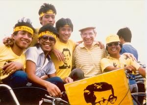 Grant Goodman in Manila, 1983.