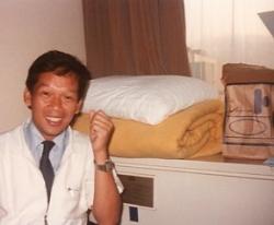 Bert Labog in Japan, 1980s.