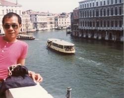 Paul in Venice, July 1983.