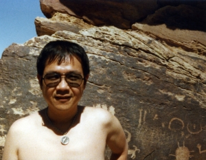Paul in Painted Desert, early 1970s.