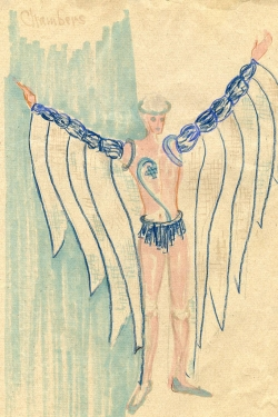 Elle Gilroy's costume rendering for the blue angels.