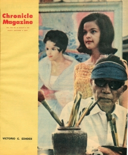 Paul's Chronicle Magazine cover story on Victorio Edades, August 8, 1964.