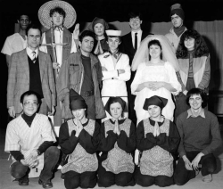 Cast photo of 1983 Leicester production.