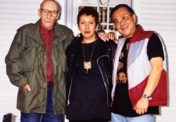 Philippine author Jessica Hagedorn visits William S. Burroughs, 1991.