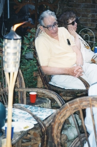 Jack and Mary Davidson at Paul's garden party, 8 June 1998.