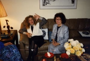 Jane Garrett and Mary Davidson at one of Paul's parties.