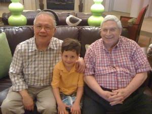 Jonathan Crespy visiting the old folks at home.