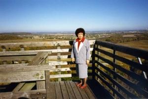 Mom at Wells Overlook, mid-1980s.