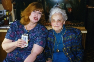 Nan Scott and Virgie Edwards at one of Paul's garden parties.