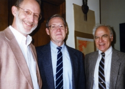 Jack Oruch, Don Warder and Hal Orel at one of Paul's parties.