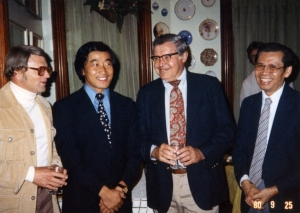 Yochan at Castle Tea Room party, 1980.