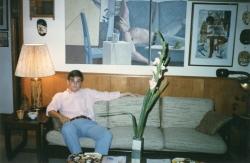 Don in family room on Pamela Lane, mid-1980s.