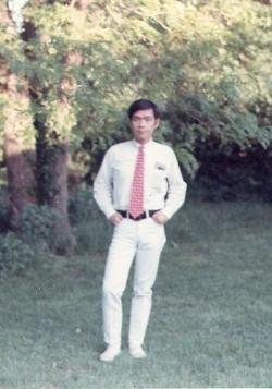 Paul in backyard at 1108 Avalon Rd., 1970.