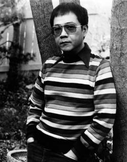 Paul in backyard of house on Pamela Lane, 1978.