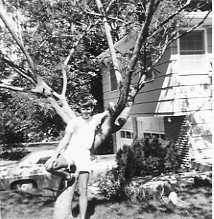 Tony Cius in front yard at 1108 Avalon Rd., 1970.