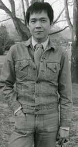 Paul in Andrew Tsubaki's front yard, 1976.