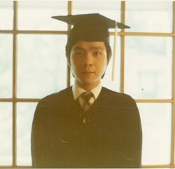 Paul graduating with B.A. in 1970.