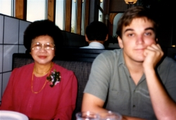 Mom and Don at another restaurant in Lawrence, mid-1980s.
