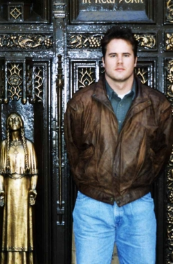David Scott at St. Patrick's Cathedral in NYC, 1994.