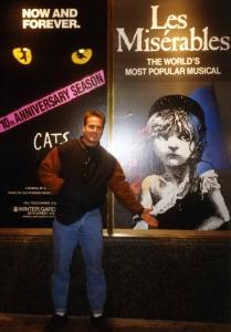 David Scott on Shubert Alley in NYC, 1994.
