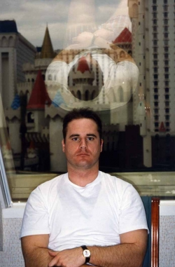 David Scott in hotel in Las Vegas, 1995.