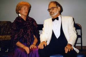 Amy Devitt and Ken Irby in the EAT staged reading of The Tragedy of Mariam, 1996.