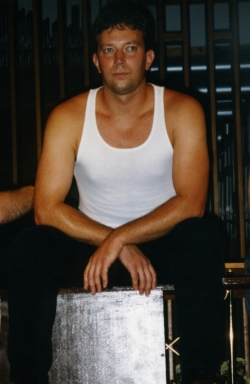 Dan Kulmala as one of the rent boys in Gross Indecency, 1998.