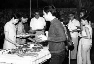 Paul at PAC Christmas party, 1967.