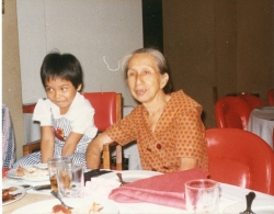 Auntie Diana with Victor's daughter in Manila, circa 1980s.