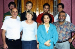The Salvosas with their American tenants in Baguio, 2005.