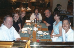 The Elliotts with the Lims and Yulos in Manila, summer 2004.