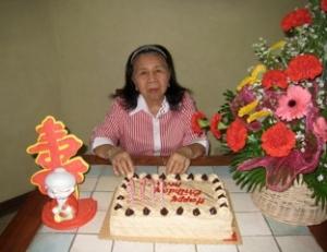 Mom's 87/88 Birthday, 27 Sept 2010.