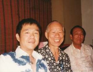 Paul with Uncle Song and brother Le Leong in Manila, circa 1980s.