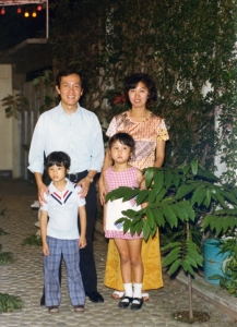 Brother Vic and family visiting Manila in early 1970s.