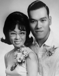 Sister Betty and Pablo's wedding photo, late 1950s.