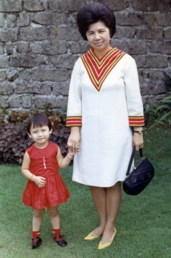 Sister Debbie with Mom, mid-1960s.