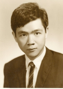 Paul's passport photo, 1968.